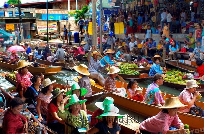 Плавающие рынки в Тайланде