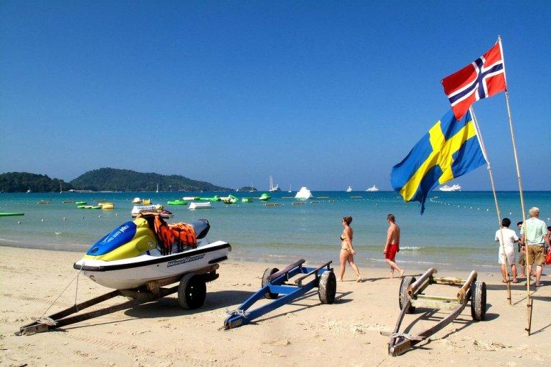 Пляж Патонг -водный транспорт