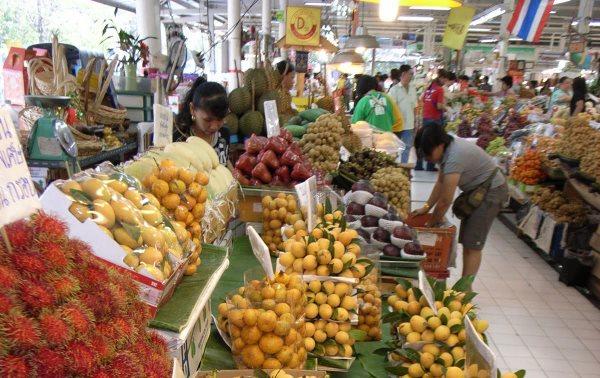 Рынок фрукты Тайланда