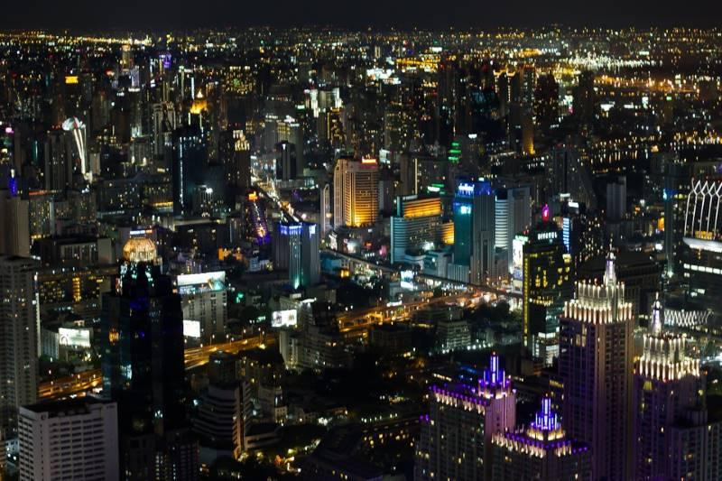 Ночной Бангкок из самолета