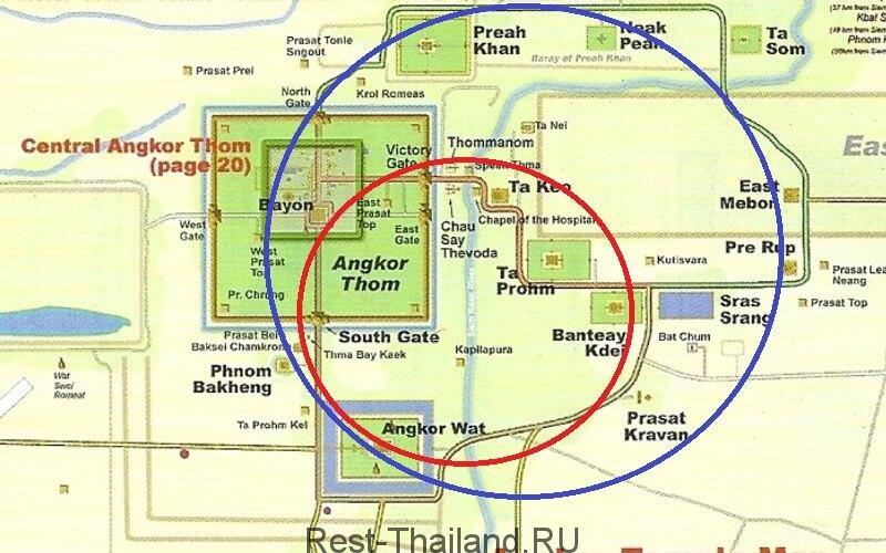 большой и малый круг Ангкор Ват