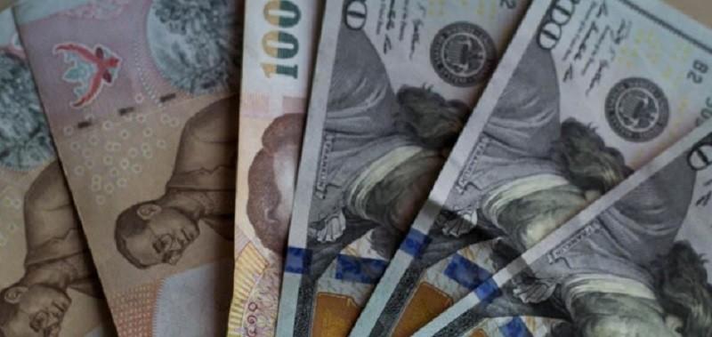 Бат и доллар (деньги для обмена)